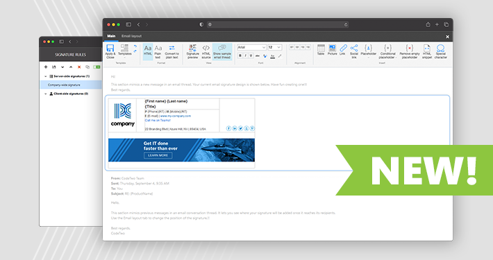 All-web interface coming to CodeTwo Email Signatures for Office 365