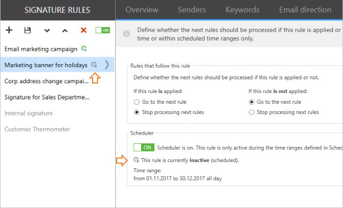 Scheduler custom activity time for holidays