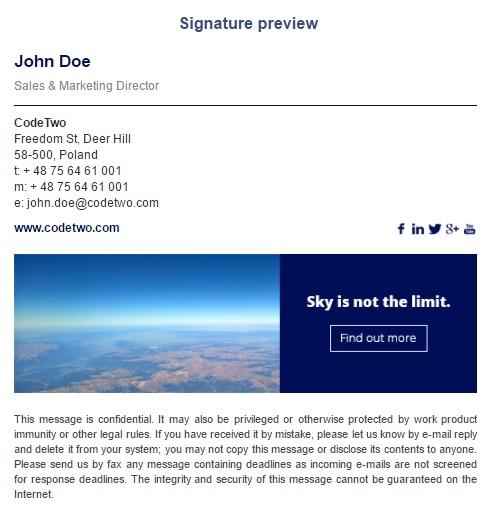 Create email signatures using Free Email Signature Generator