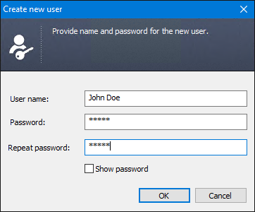 Creating a Standard users in the Administration Panel of CodeTwo Public Folders.