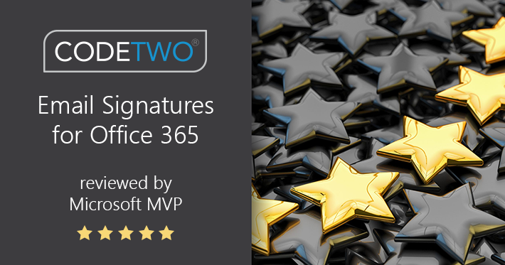 CodeTwo signature software rated as perfect by Microsoft MVP