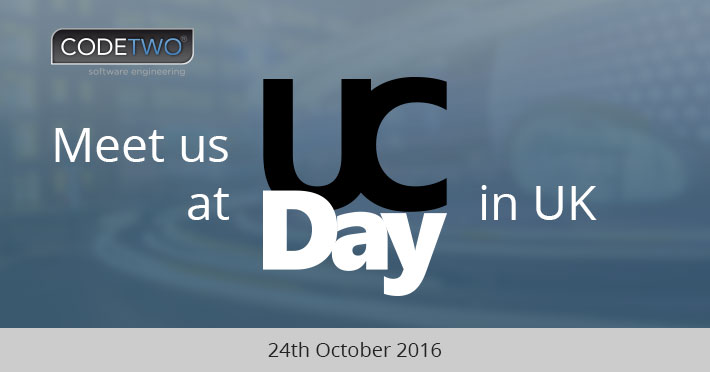 Meet us at UC Day in UK in October 2016!