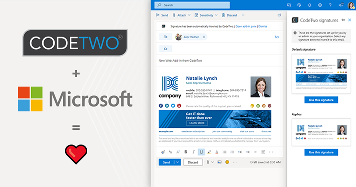 CodeTwo first to bring the modern Signatures Web Add-in for Outlook & OWA to general availability