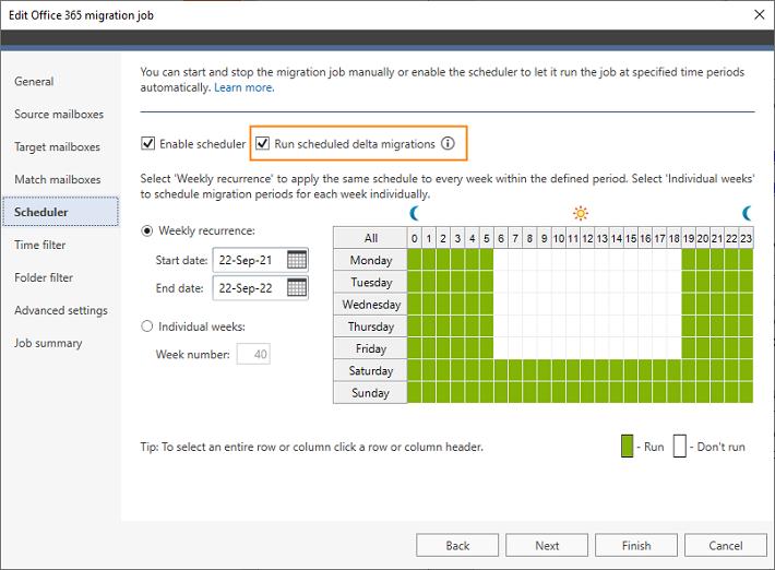 CodeTwo migration tools - scheduling delta migrations