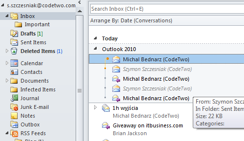 Outlook 2010 - First Impressions, Short Review - CodeTwo