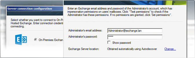 Establishing a connection in CodeTwo Exchange Migration
