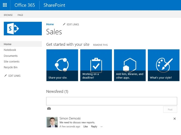User's photo in SharePoint.
