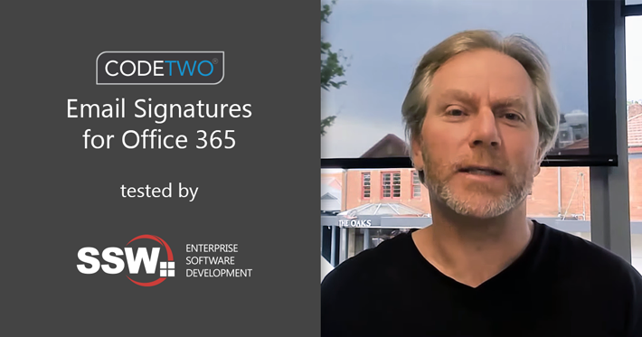 SSW TV talks about setting up professional email signatures with CodeTwo