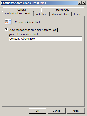 how to create a common company address book