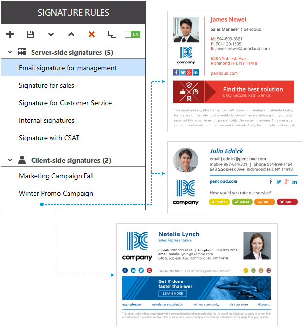 Complete control of Office 365 email signatures