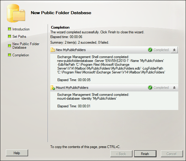 How to create public folders in Microsoft Exchange and