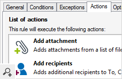 Each rule consists of Conditions, Exceptions, Actions and Options. Within one policy actions can be triggered by various conditions that are defined in the conditions builder. The endless number of possibilities during rules creation makes CodeTwo Exchange Rules Pro a versatile and powerful administration tool.