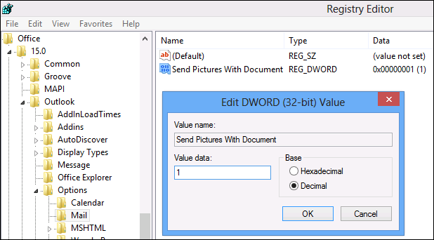 How to embed images into emails in Outlook 2013/2016