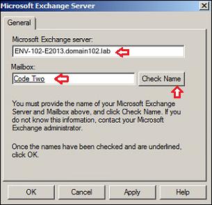 Failed to configure MAPI profile