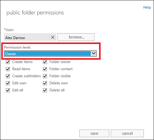 How to grant full access control to public folders