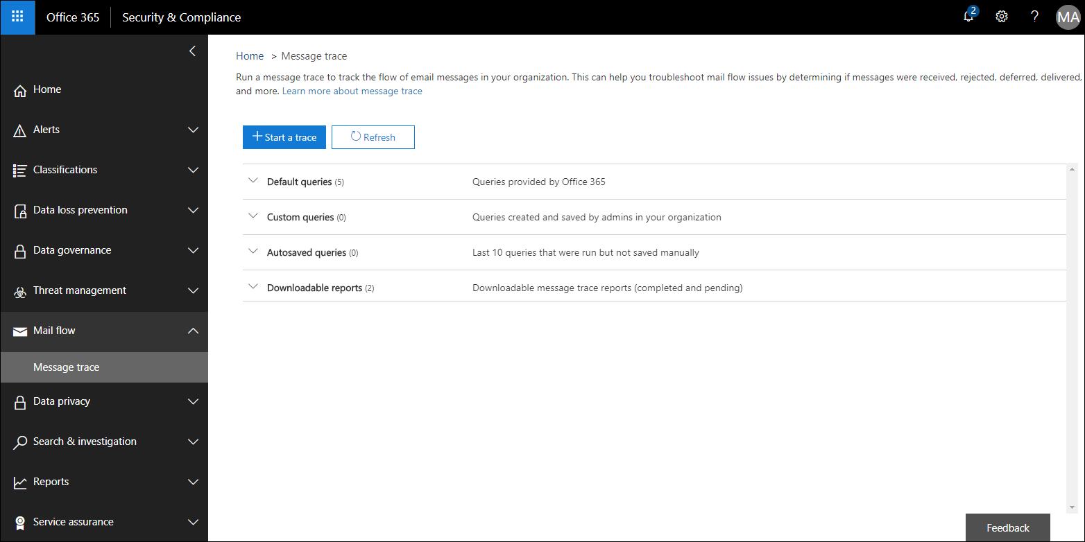 How to create an extended message trace report in Office 365