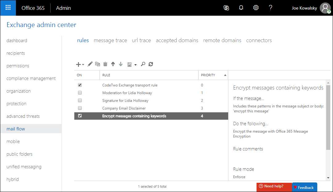 Problems with emails encrypted by Azure RMS