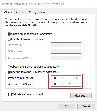 How to solve the DTD IS PROHIBITED error when connecting to