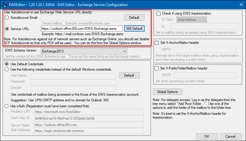 How to troubleshoot EWS connection by using EWSEditor