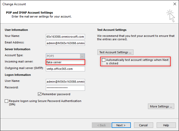How to configure a Send-Only account in Outlook