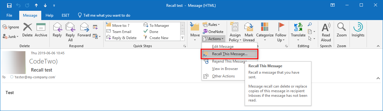 Message Recall In Outlook Codetwo Email Signatures For Office 365