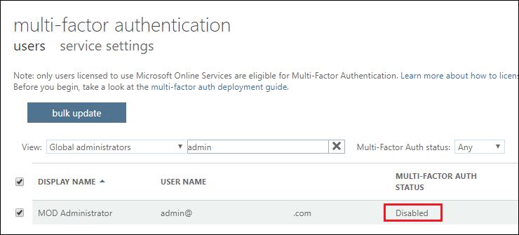 Microsoft security policies prevent creating app passwords