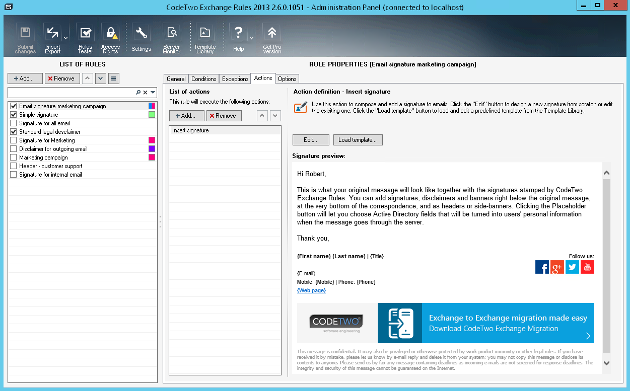 Email signature management for marketing departments