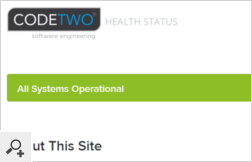 You can view the health status of our services at any time using a dedicated status page. We can also send you email notifications, or RSS feed if there are any issues with your geolocation.