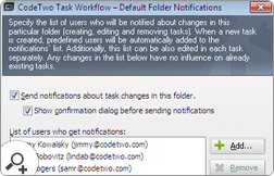 CodeTwo Task Workflow can automatically send notifications about task changes in Outlook