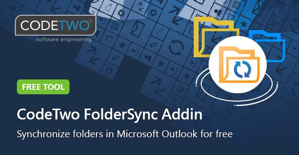 CodeTwo Folder Sync Addin - synchronize folders in Outlook