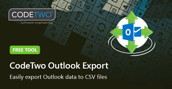 CodeTwo Outlook Export - easily export Outlook data to CSV files
