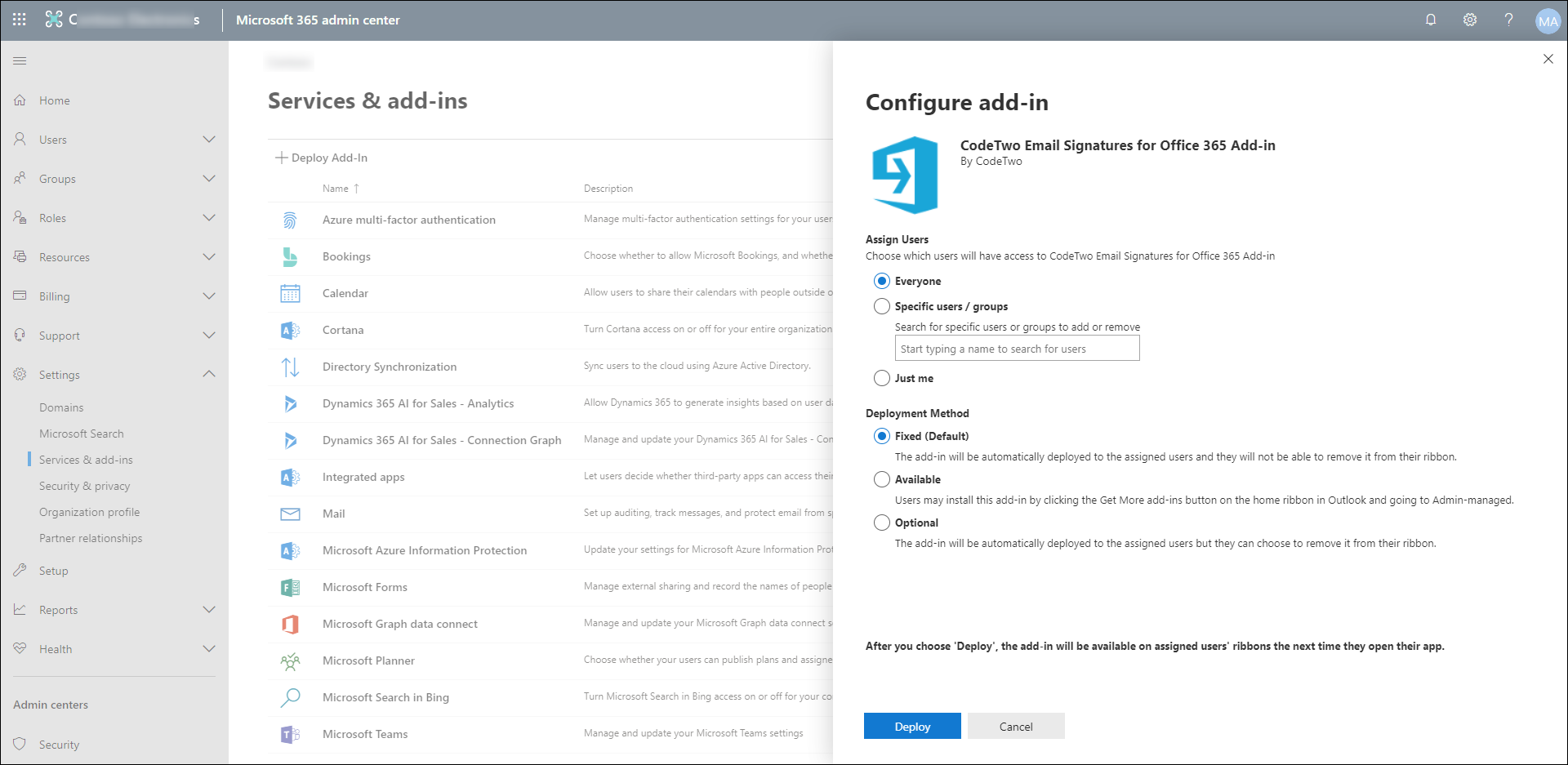 Installation and configuration - Installing the signature preview
