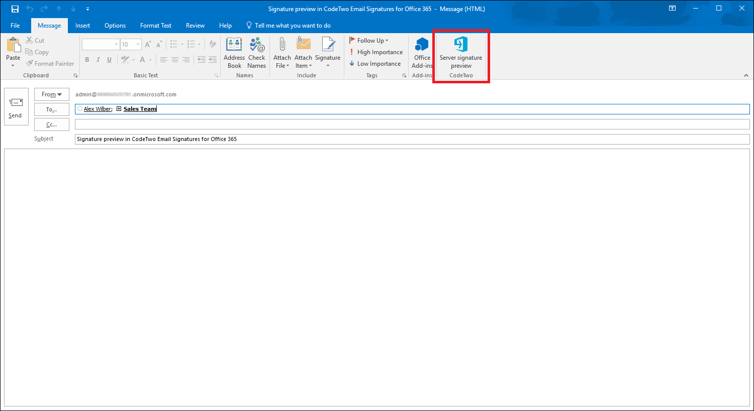 Signature Management Signature Preview In Outlook Previewing