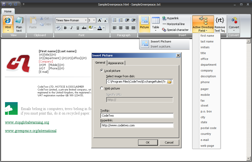 how to create a custom outlook online signature