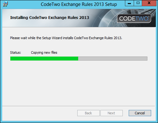 CodeTwo Exchange Rules installation process