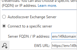 In cross-forest Exchange migrations the program connects with a target server using Exchange Web Services (EWS). In this scenario you need configure the EWS URL of the target server.