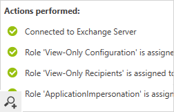 In the last step of configuring the connection, the program goes through a checklist to verify whether the migration will run smoothly. It also suggests possible configuration changes or improvements.