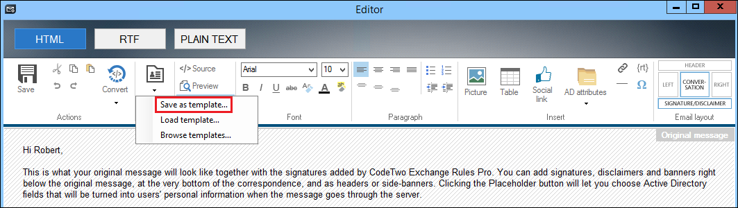How to save a signature as a template to reuse it in the future