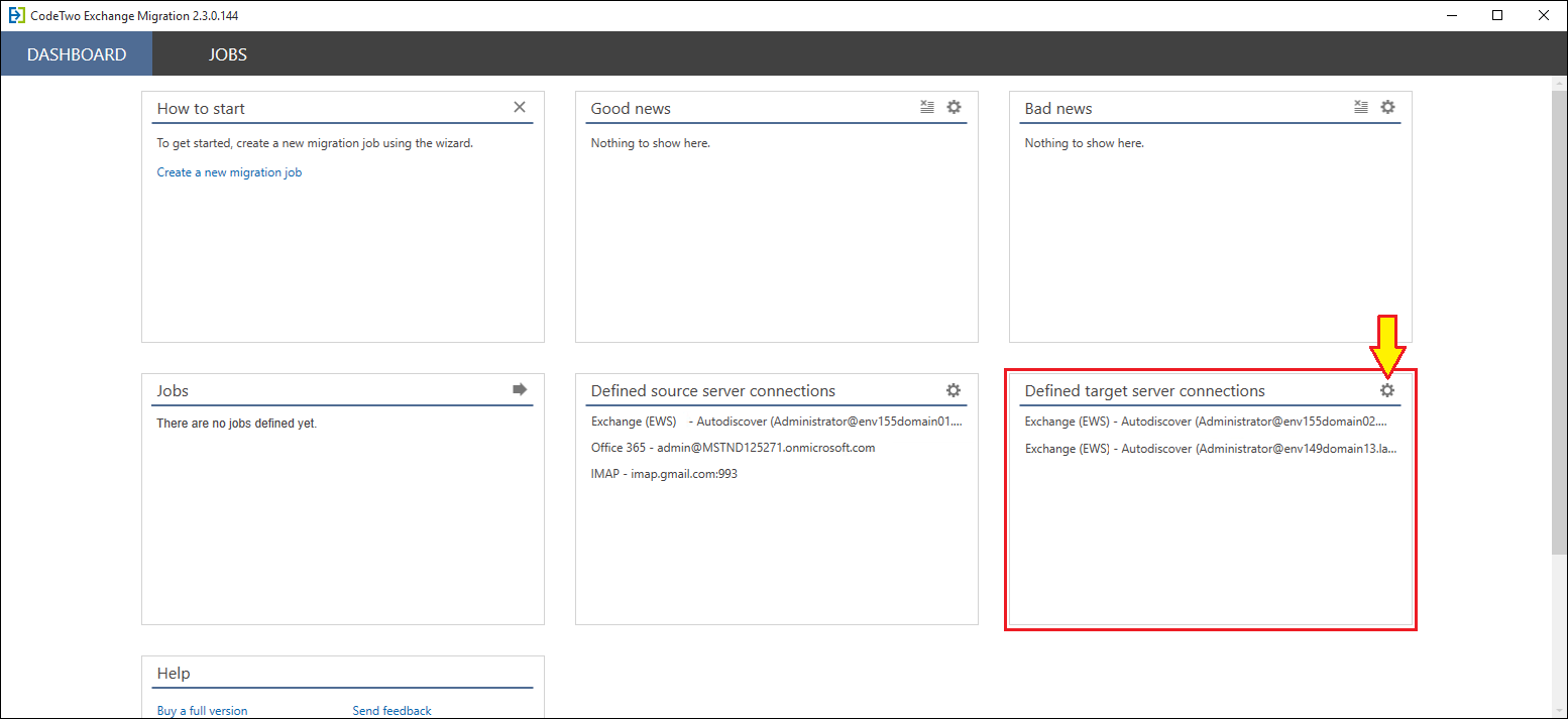 How to - Connect to a target Exchange server   CodeTwo