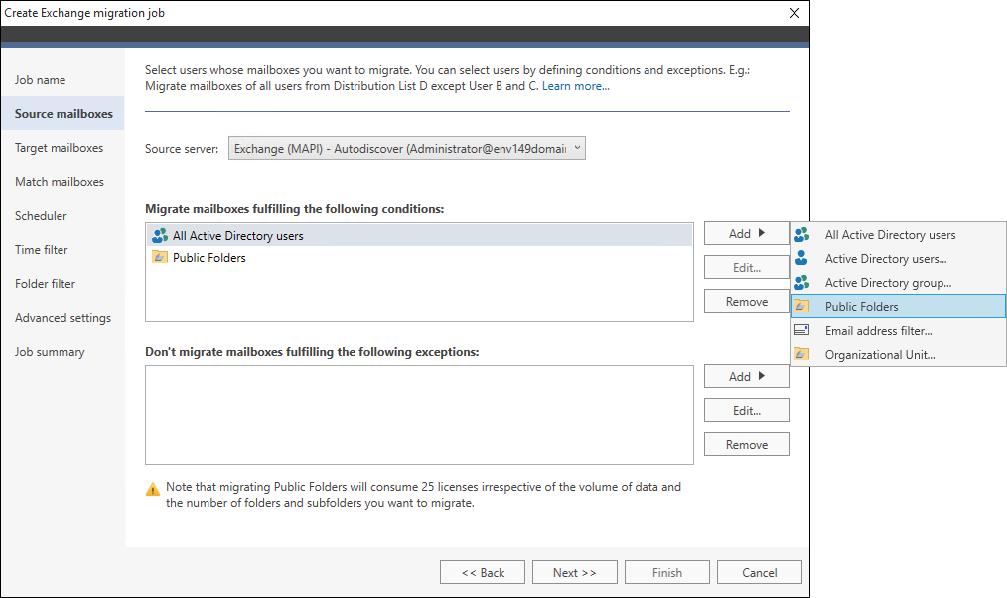 How to - Configure a migration job - Advanced settings