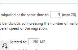 The settings window will let you adjust the number of concurrent migration processes carried out at a time.