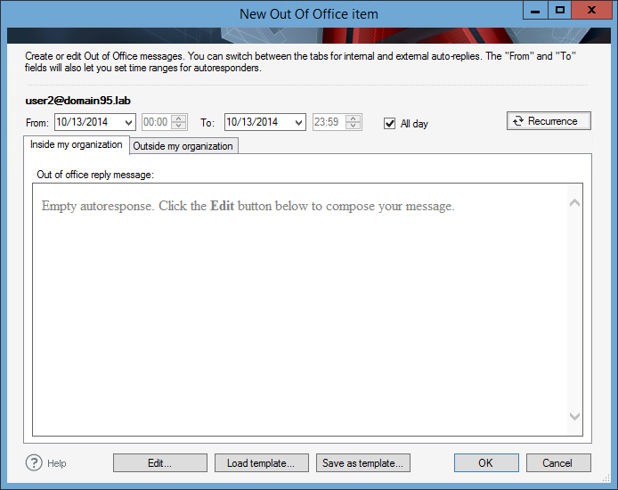Managing Out of Office messages | CodeTwo Out of Office Manager ...
