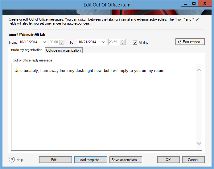 Managing Out Of Office Messages Codetwo Out Of Office Manager