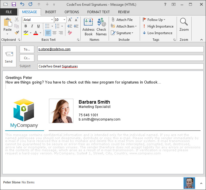 how to set up outlook mail live signatures