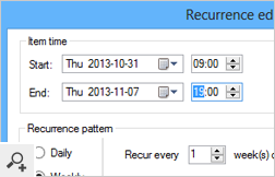 The build-in recurrence editor lets you set recurring Out of Office replies for Exchange Server and Office 365 users.