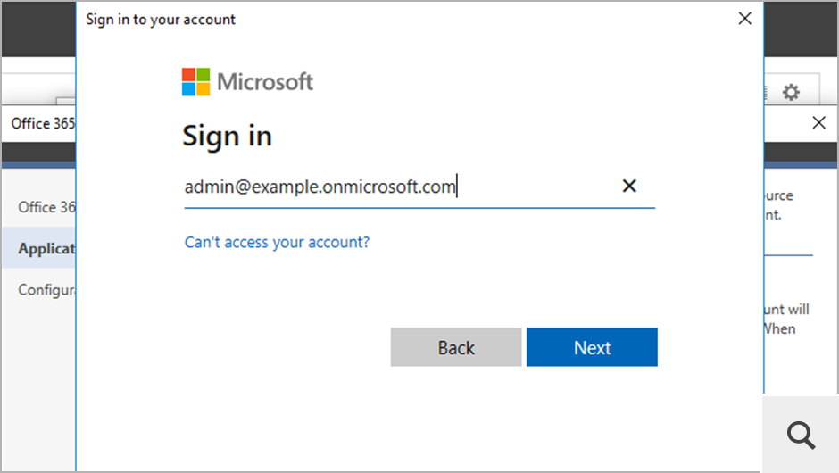 The registration is completely safe and can be performed automatically. You don't need to provide any credentials in the program – simply authenticate via the Microsoft sign-in page.