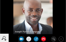 Users' photos can also be visible in a conversation window in Skype for Business