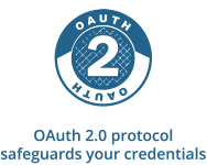 OAuth 2.0 protocol safeguards your credentials