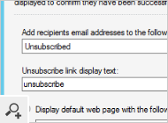 You can have several lists of unsubscribed email addresses configured in the program. Each of them can work slightly differently from the other one, e.g. it can display a different notification.