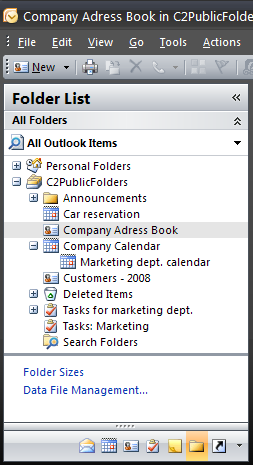 Examples of some public folders created by various users.